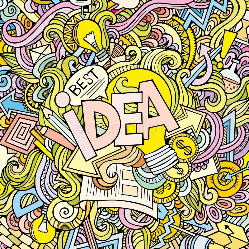 Download Lettrage De Main D'idée Et éléments De Griffonnages Illustration de Vecteur - Illustration du économie, affaires: 45372157