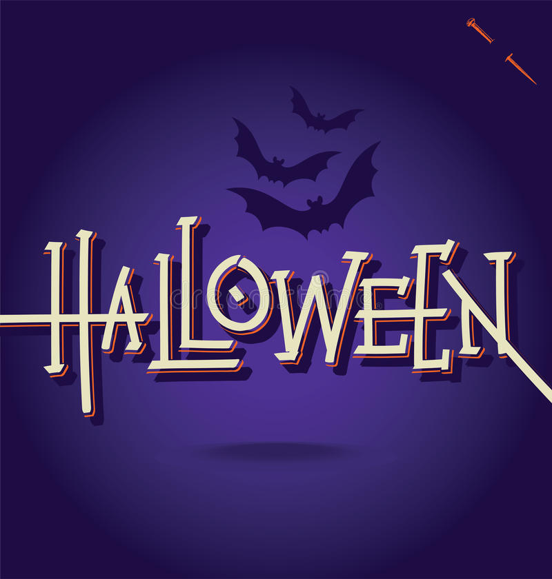 Lettrage de main de HALLOWEEN () illustration de vecteur