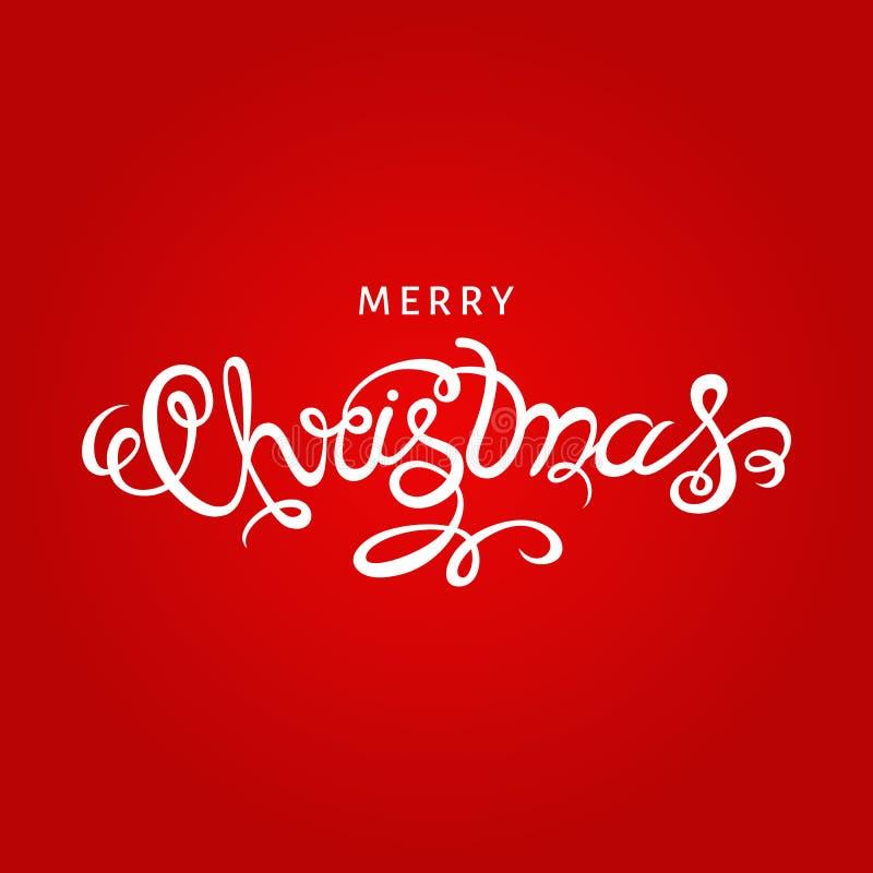 Download Lettrage De Main De Joyeux Noël Sur Le Fond Rouge Illustration de Vecteur - Illustration du invitation, salutation: 77162184