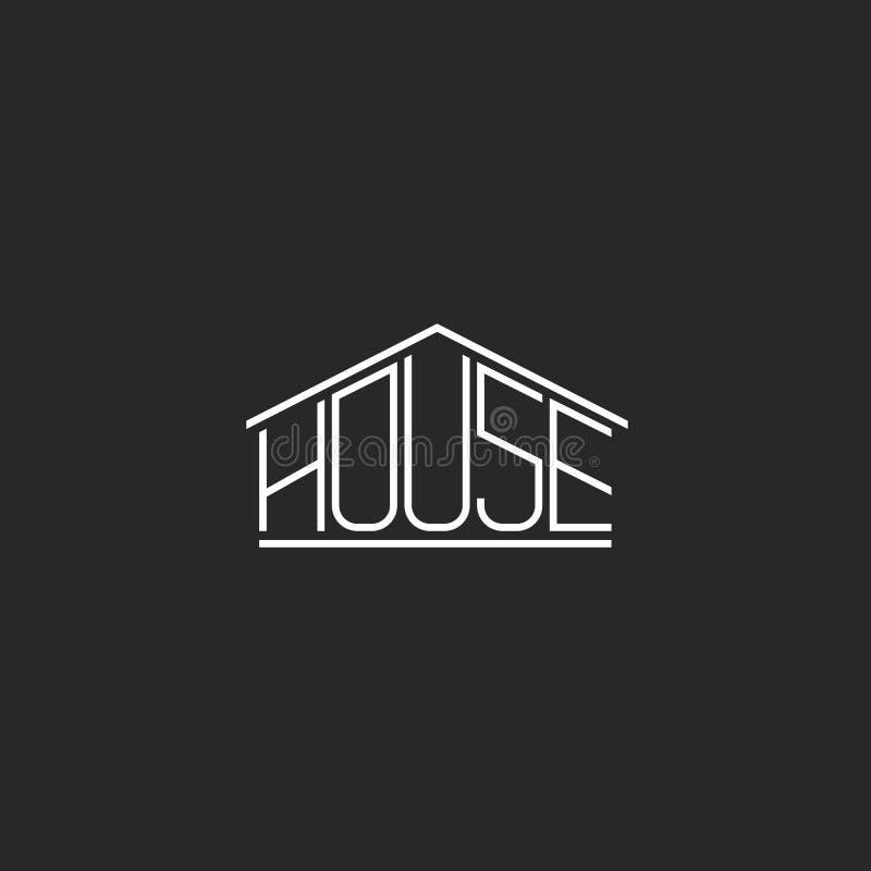 Lettrage de monogramme de hippie de logo de Chambre, élément graphique de conception de T-shirt de mot, vrai emblème d'agence imm illustration libre de droits