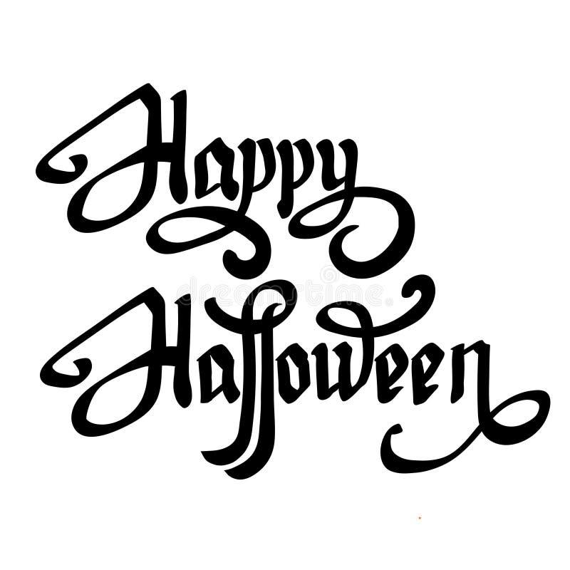 Lettrage heureux de vecteur de Halloween illustration libre de droits