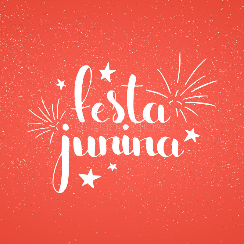 Lettrage manuscrit de Festa Junina illustration stock