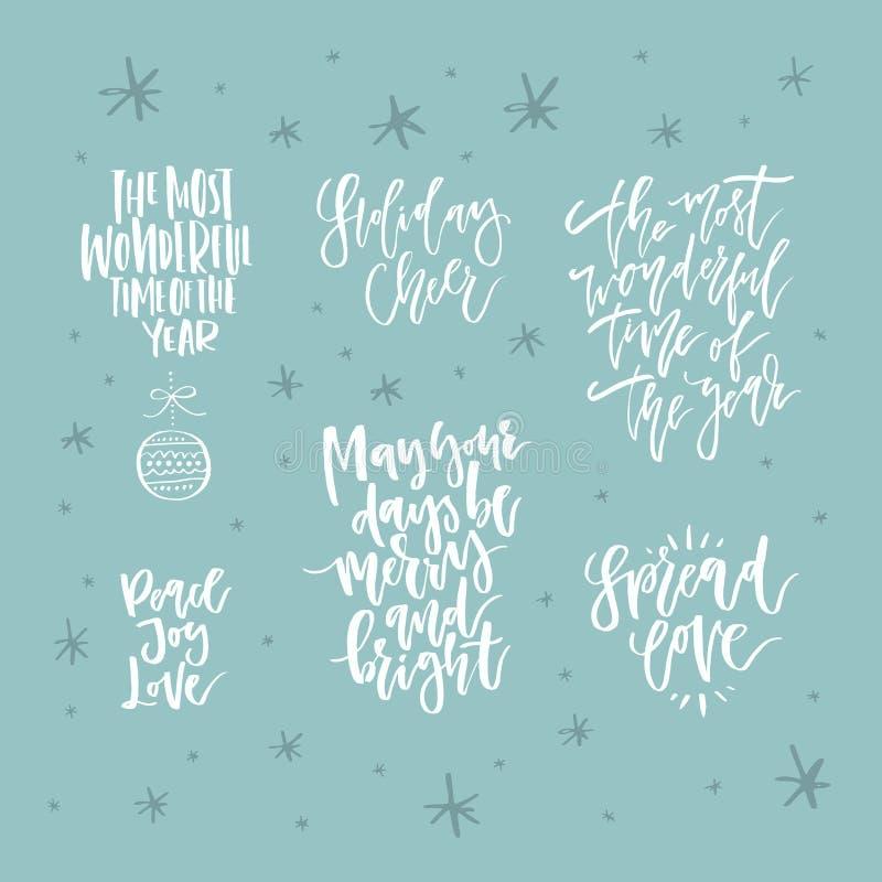 Lettrage tiré par la main de Noël illustration libre de droits