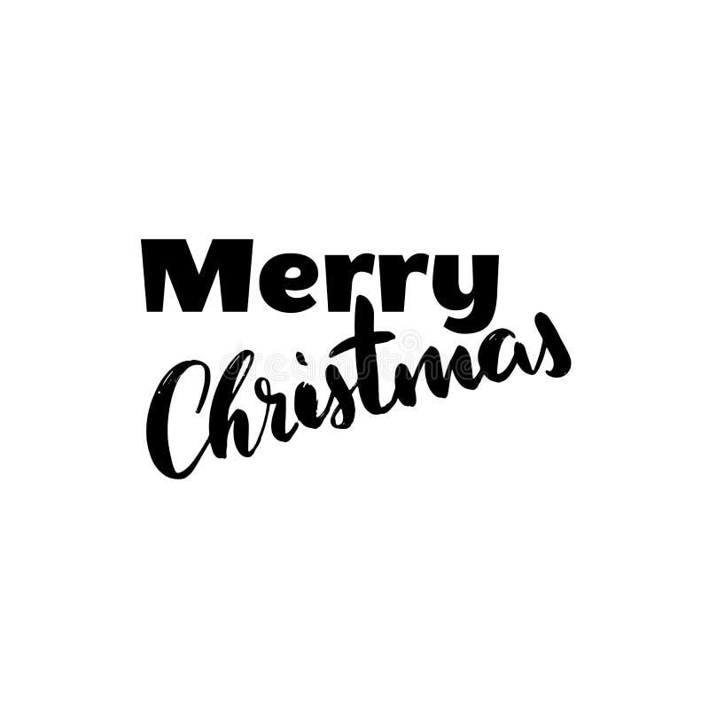 Lettrage tiré par la main de vacances de Noël avec la couleur d'or d'isolement sans fond pour la carte de voeux, invitation de pa illustration stock