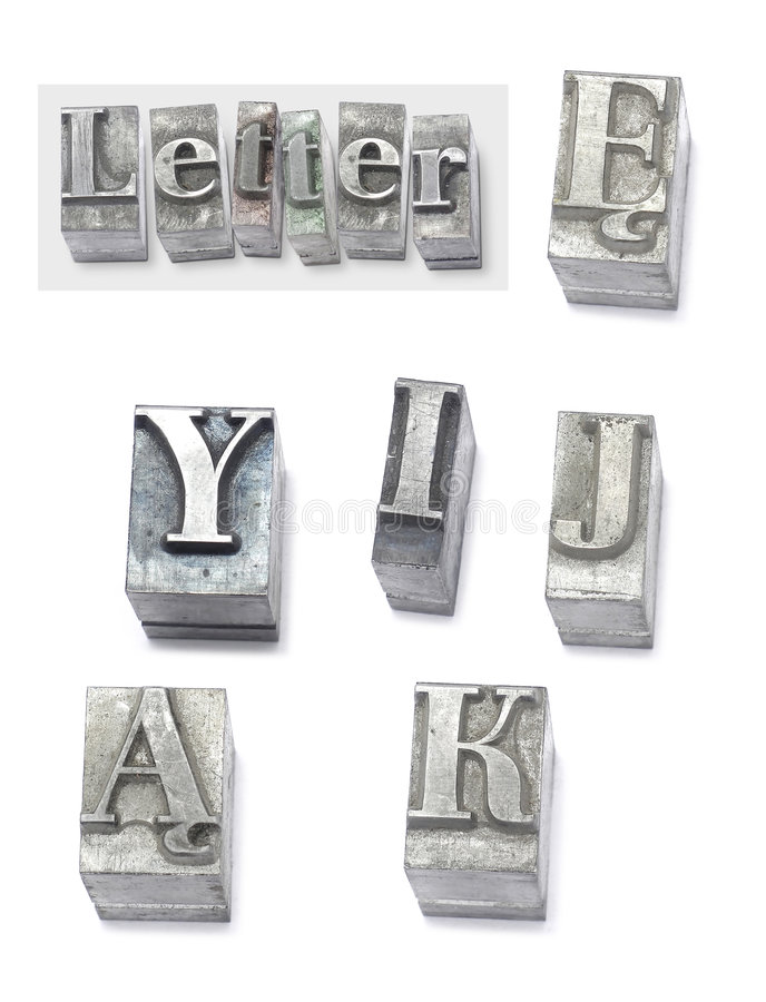 Lettre images stock