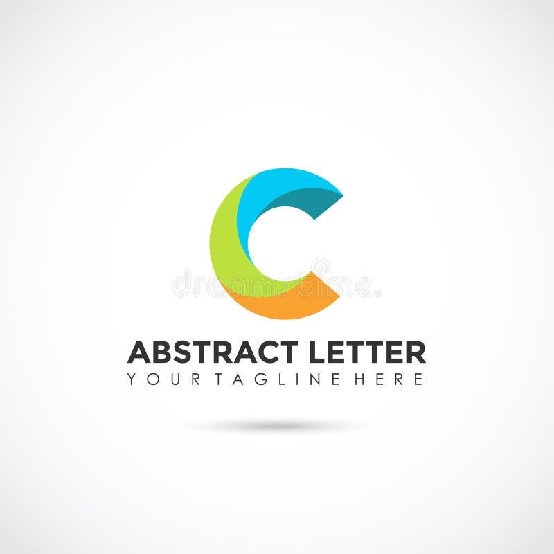 Lettre abstraite C Logo Design plat Illustrateur ENV de vecteur 10 illustration libre de droits