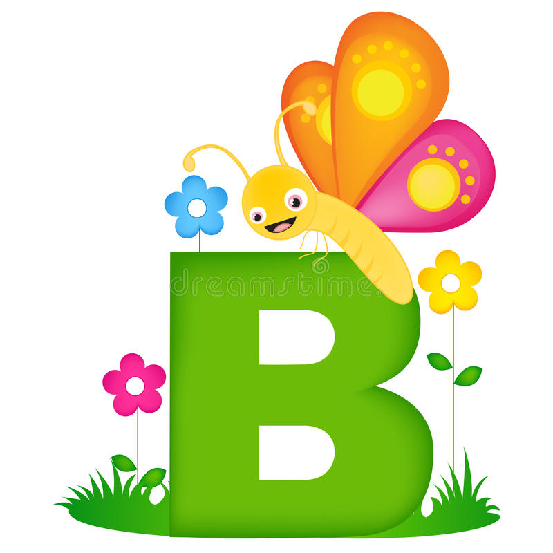 Lettre animale B d'alphabet illustration stock