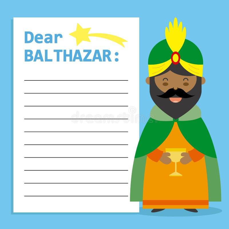 Lettre au Roi Balthazar illustration libre de droits