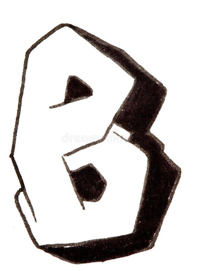 Lettre b alphabet dans le style de graffiti photo stock for Dans en 2 lettres