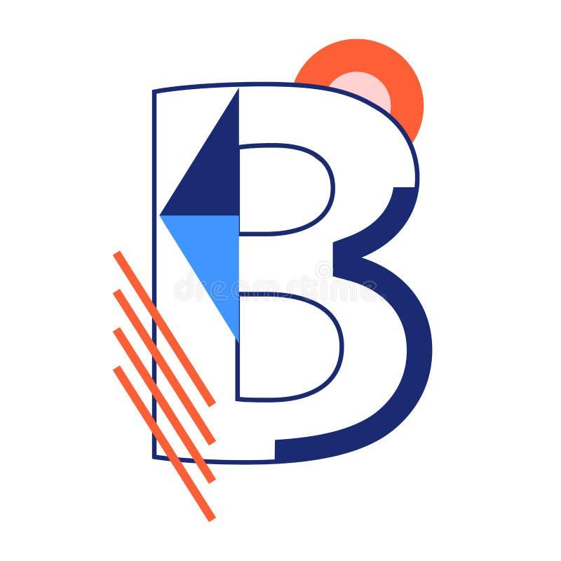 Lettre B de vecteur illustration stock