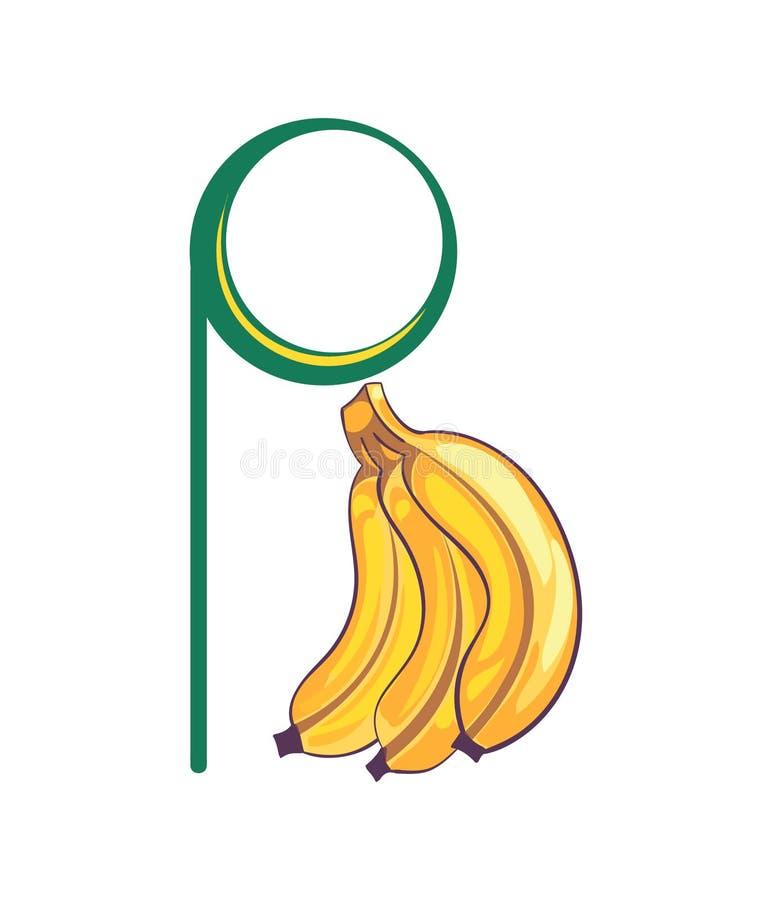 Lettre B sous la forme de banane images stock