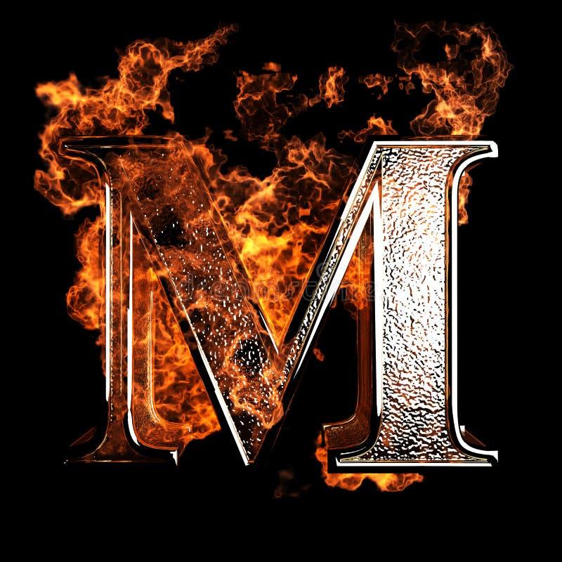 Lettre brûlante illustration de vecteur