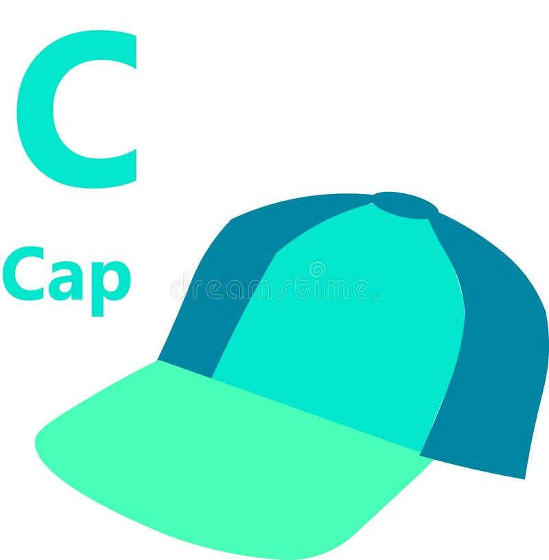 Lettre c d'alphabet anglais pour le chapeau illustration libre de droits