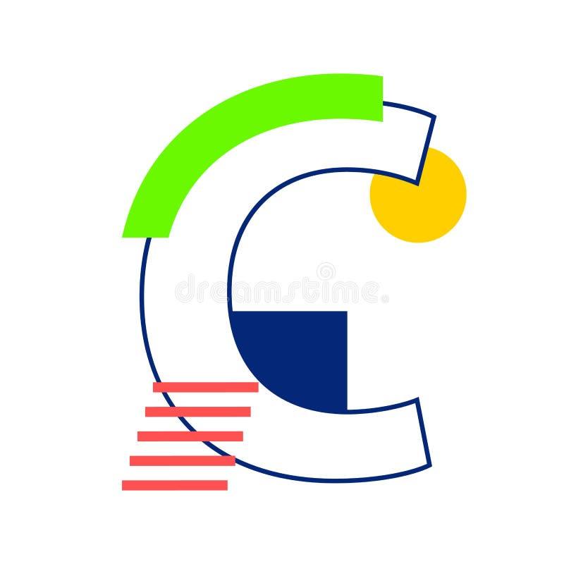Lettre C de vecteur illustration libre de droits