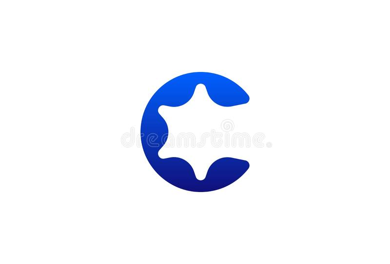 Lettre C Logo Design de vecteur illustration stock