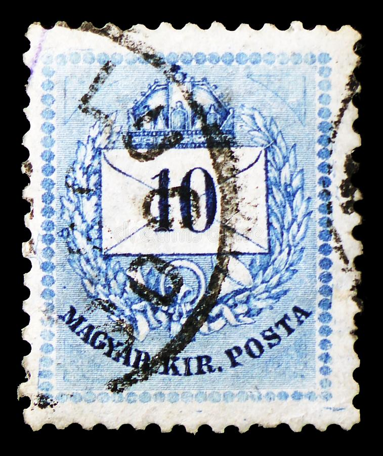 Lettre, chiffre coloré, lettre avec le serie de chiffres de valeur, vers 1881 photo libre de droits