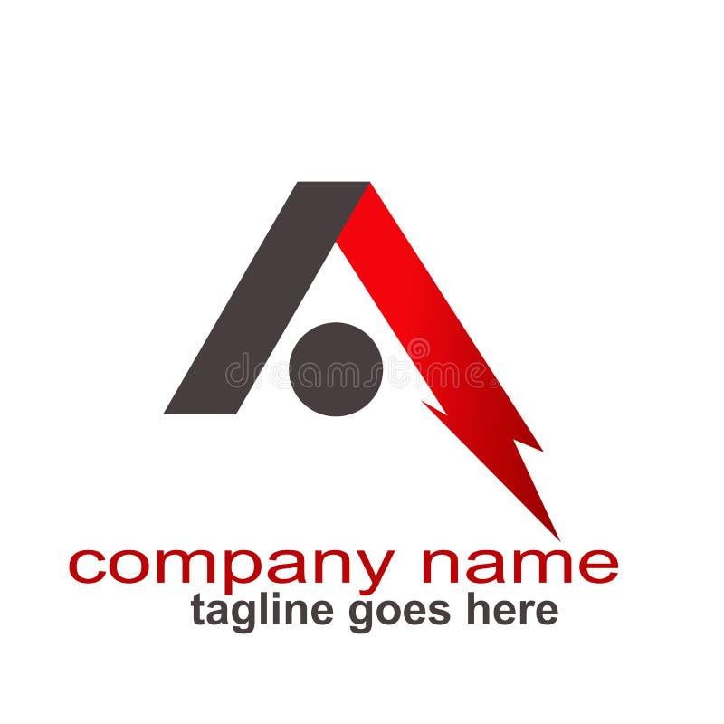 Lettre créative d'abstrct de conception une ressource de graphique de logo illustration stock