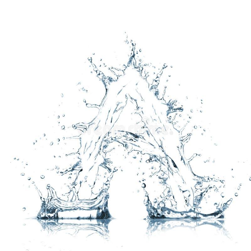 Lettre d'alphabet de l'eau photographie stock libre de droits