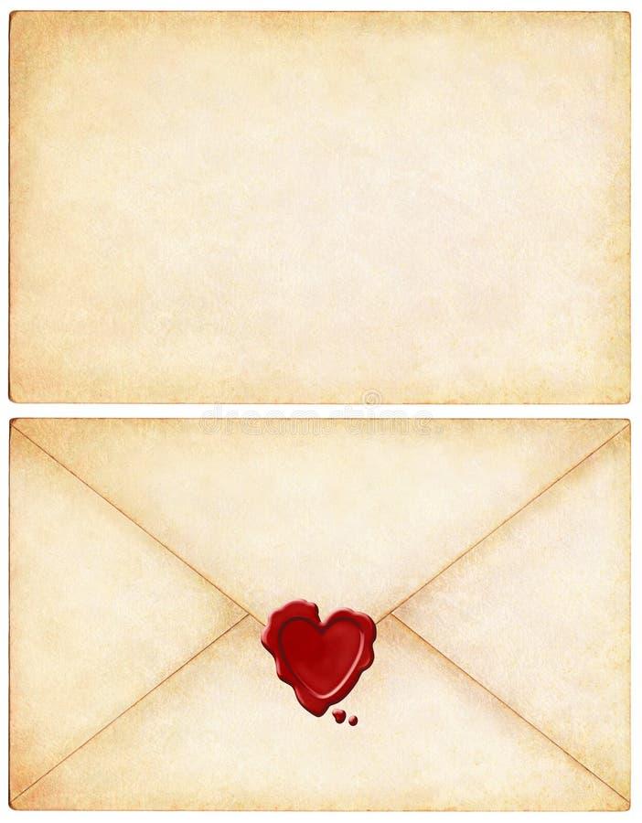 Lettre d'amour illustration stock