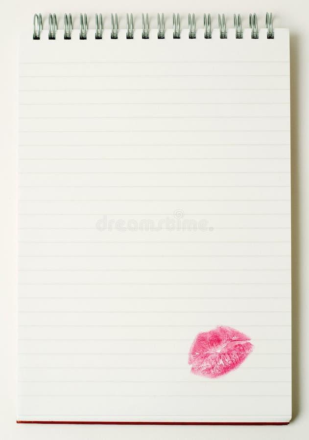 Lettre d'amour. images stock