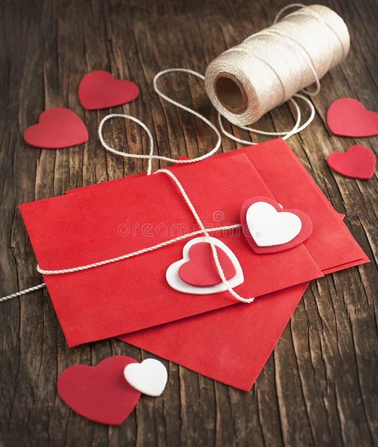 Lettre d'amour pour la Saint-Valentin photo libre de droits