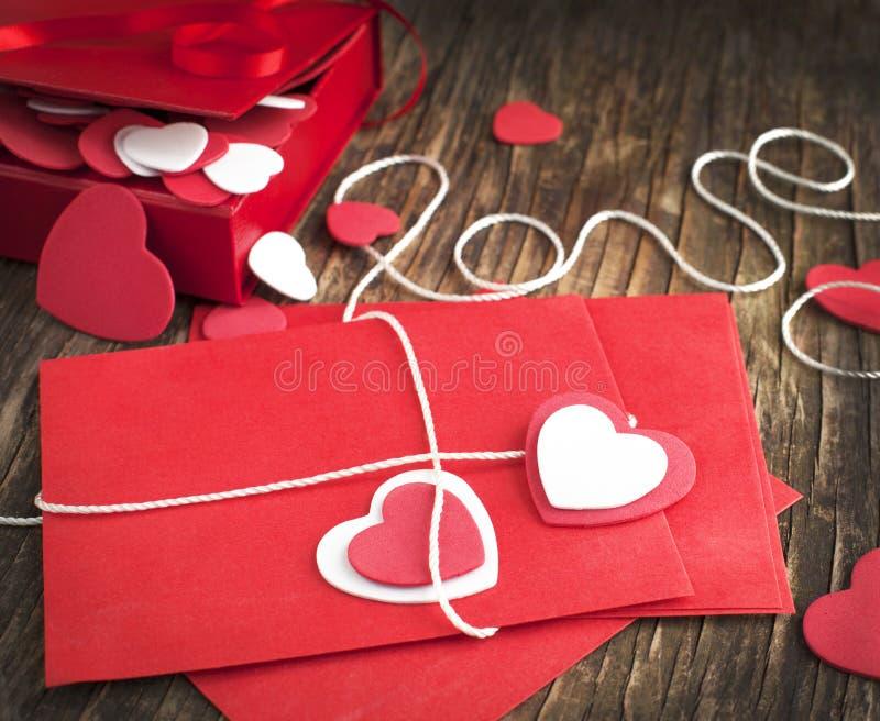 Lettre d'amour pour la Saint-Valentin photos stock