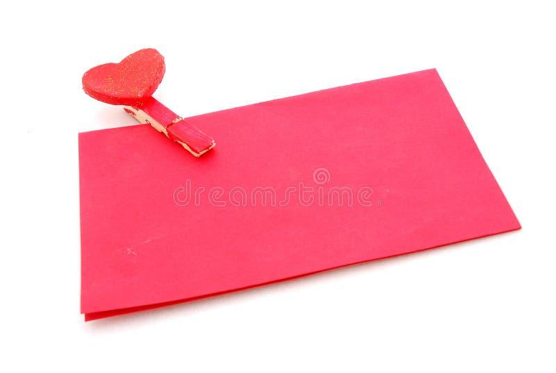 Lettre d'amour rouge photographie stock
