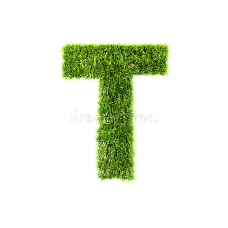 Lettre d'herbe illustration libre de droits