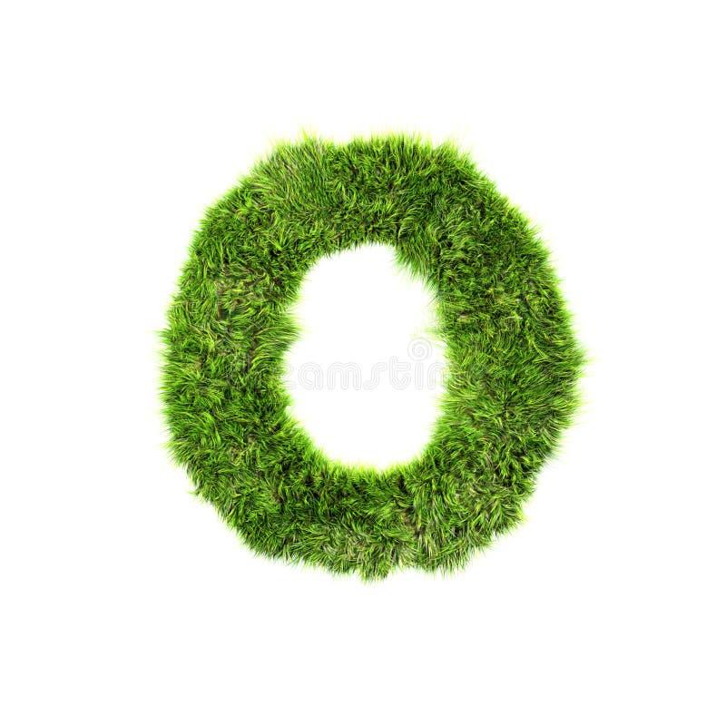 Lettre d'herbe illustration stock