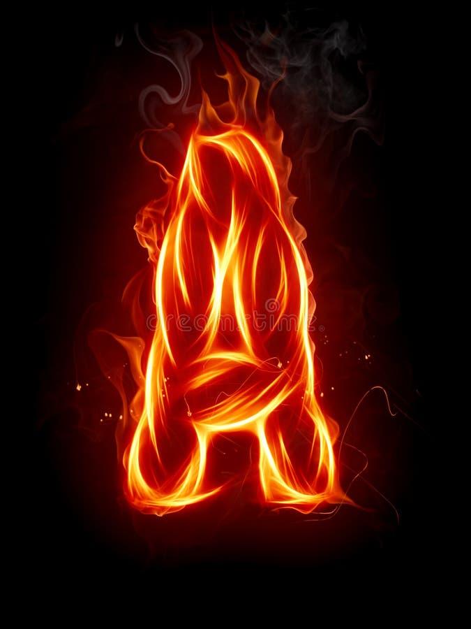 Lettre A d'incendie illustration libre de droits