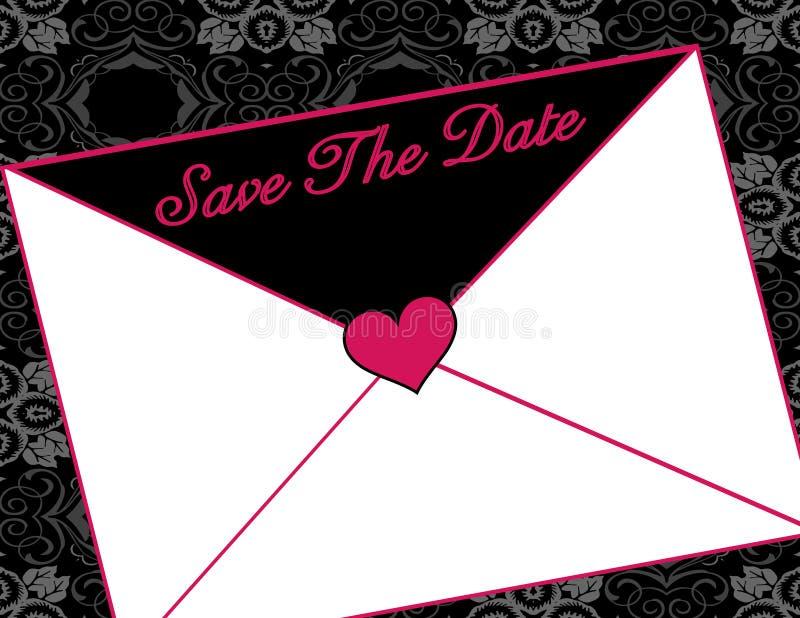 Lettre d'invitation illustration libre de droits
