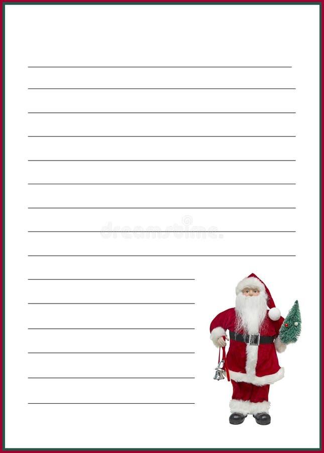 Lettre de cadeau de Noël images libres de droits