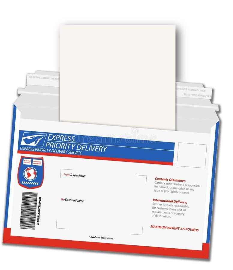 Lettre de distribution exprès illustration stock