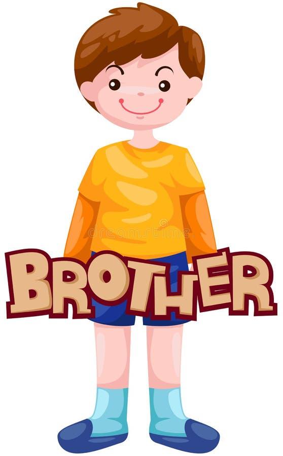 lettre de frère illustration stock