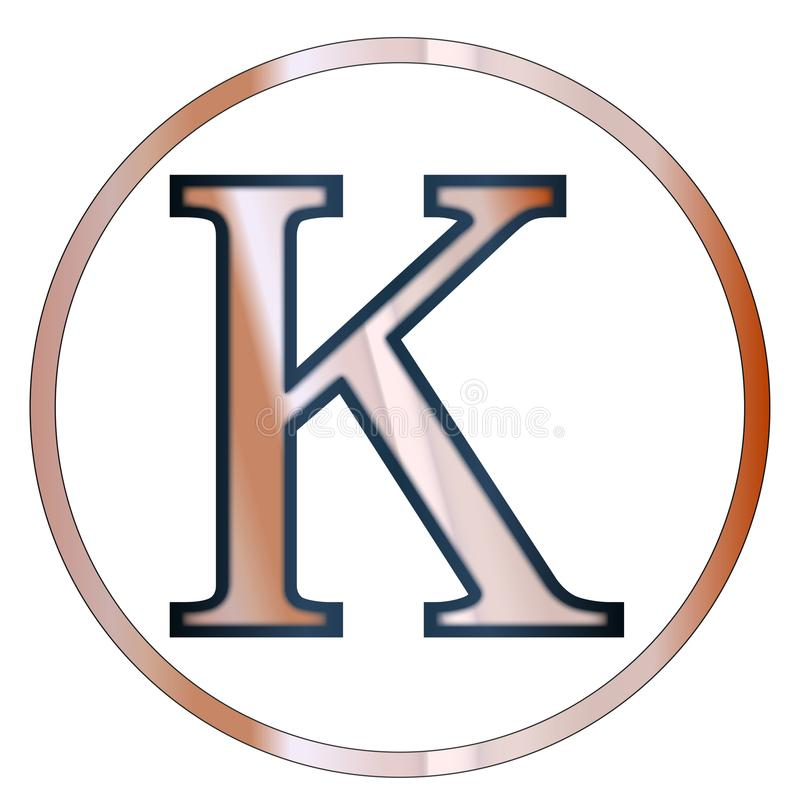 Lettre de Grec de Kappa illustration de vecteur