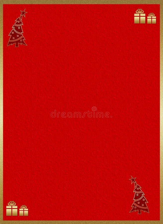 Lettre de Joyeux Noël illustration libre de droits