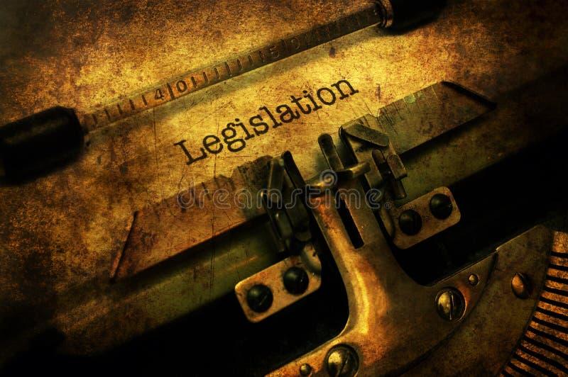 Lettre de législation sur la machine à écrire image libre de droits
