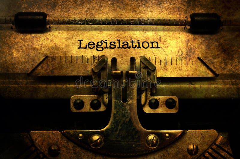 Lettre de législation sur la machine à écrire image stock