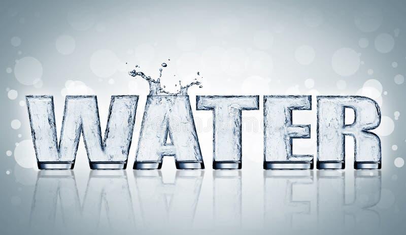 Lettre de l'eau illustration libre de droits