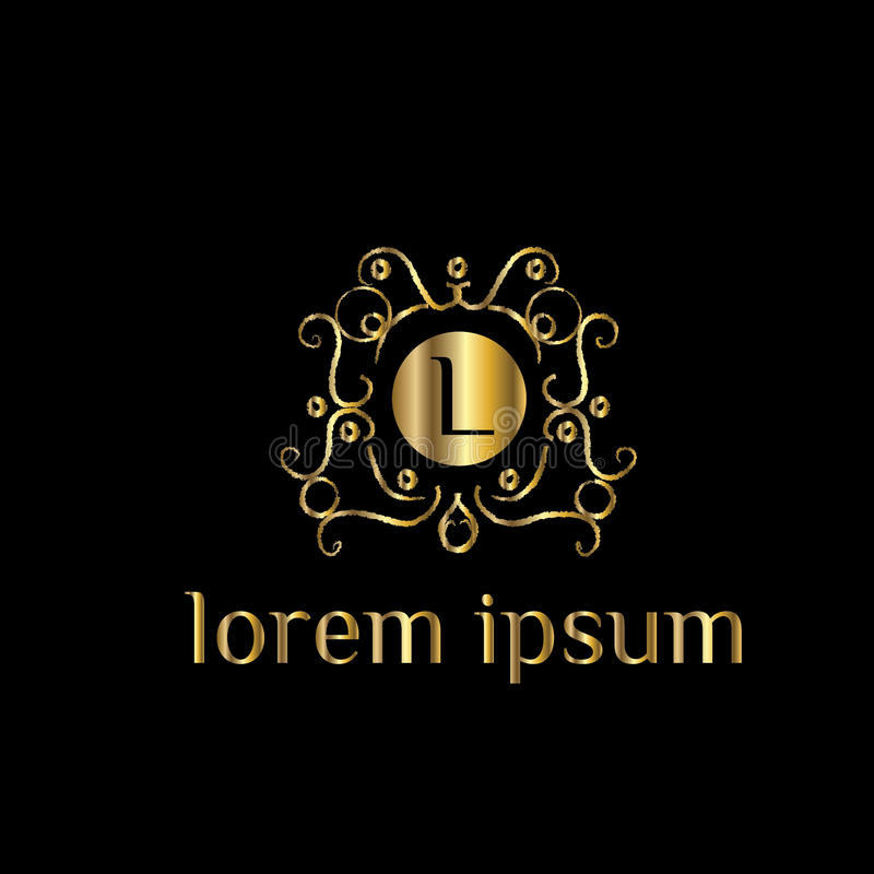 Lettre de luxe L logo Dirigez le signe de calibre de logo, symbole, icône, cadre de luxe de vecteur illustration de vecteur
