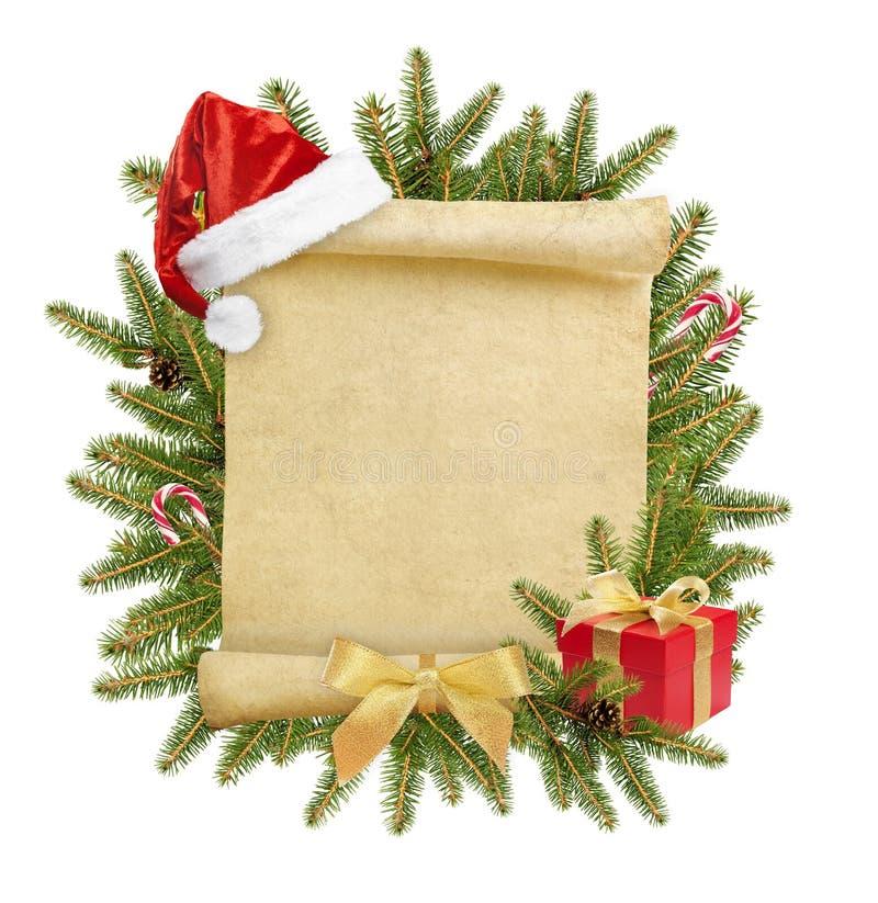 Lettre de Noël à Santa photo stock