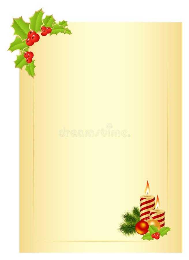 Lettre de Noël illustration de vecteur