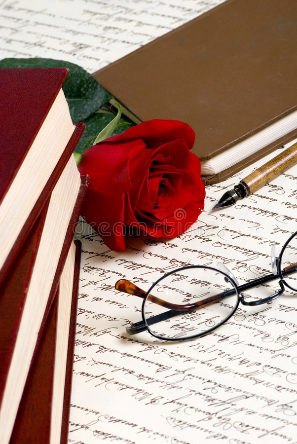 Lettre de Rose photo stock