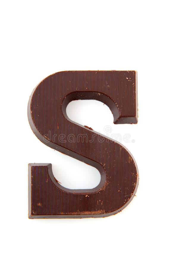 Lettre de Sinterklaas de chocolat image stock