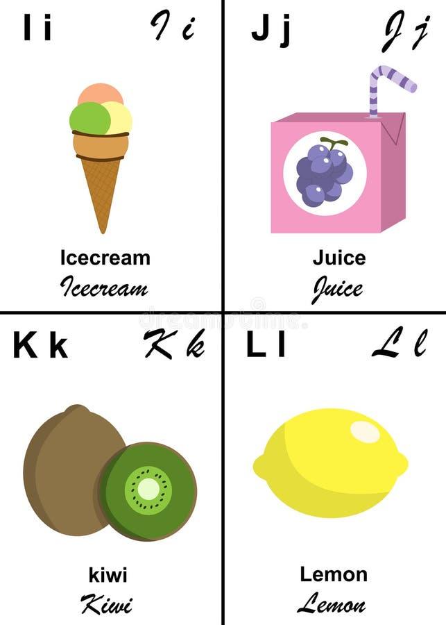 Lettre De Table D Alphabet D I à L Image stock