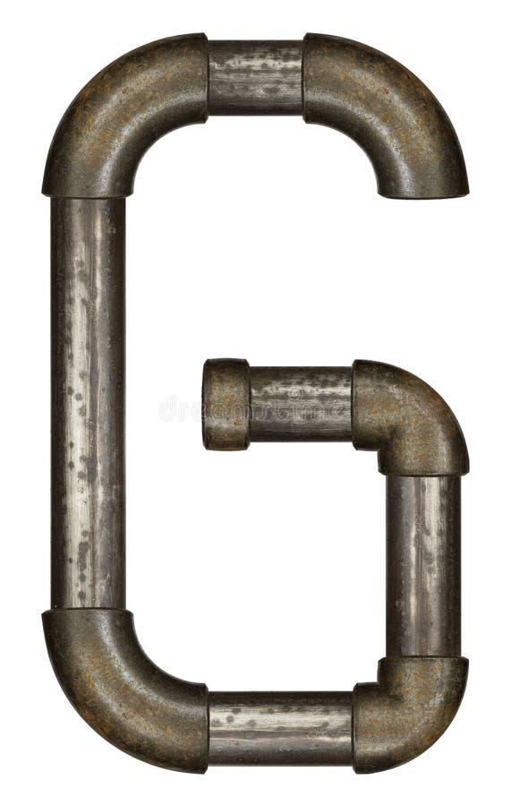 Download Lettre de tuyau image stock. Image du métallique, lettre - 56484373