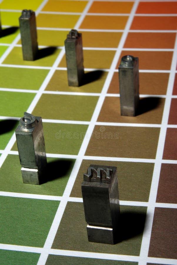 Lettre de typographie photographie stock
