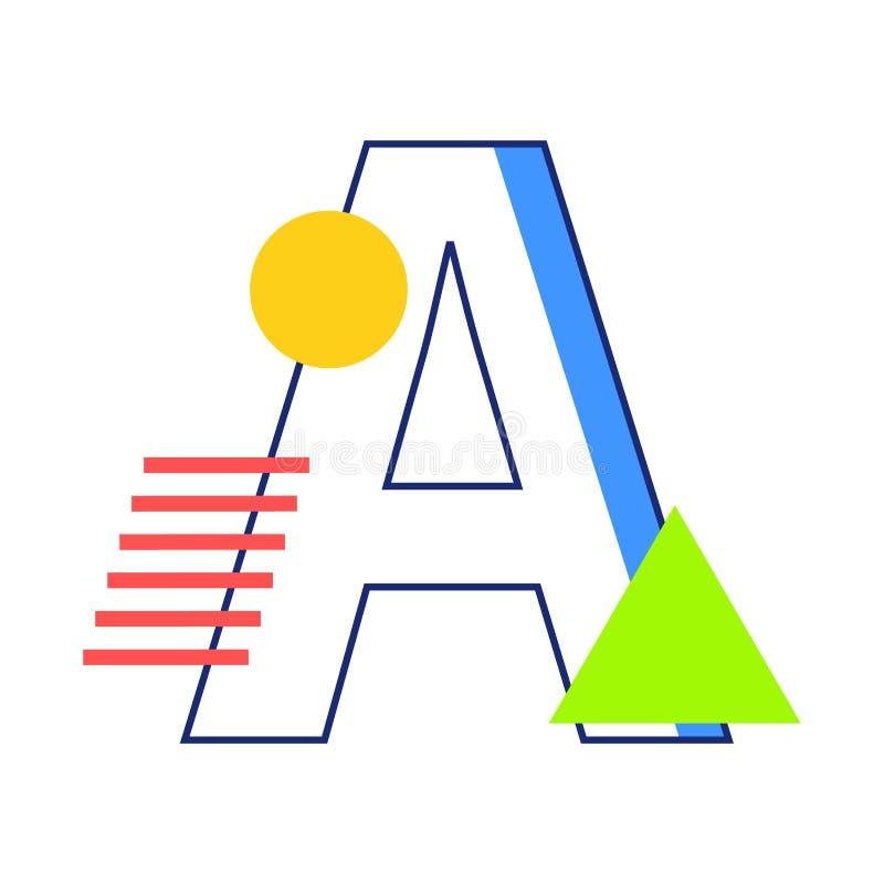 Lettre A de vecteur illustration libre de droits
