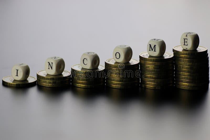 Lettre des textes de revenu photo libre de droits