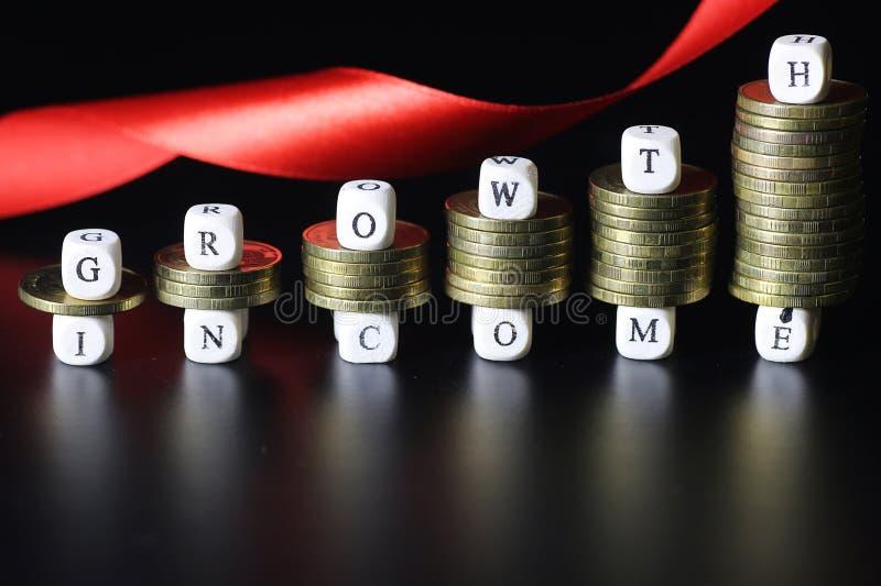 Lettre des textes de revenu de croissance image libre de droits